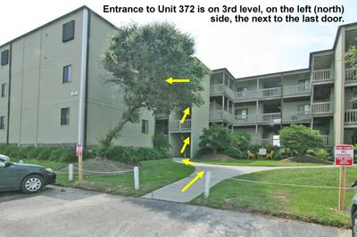 Streetside view of building - Topsail Reef 372 - BLD 7 - North Topsail Beach - rentals