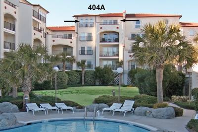 View of Unit 404A from the courtyard - Villa Carpiani 404 A - North Topsail Beach - rentals