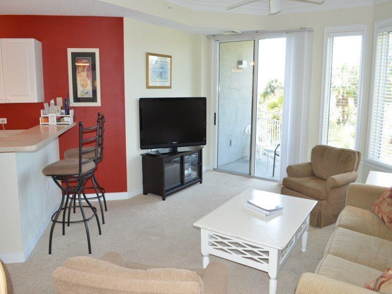Living Room with Ocean Views at 2206 Sea Crest - 2206 Sea Crest - Hilton Head - rentals