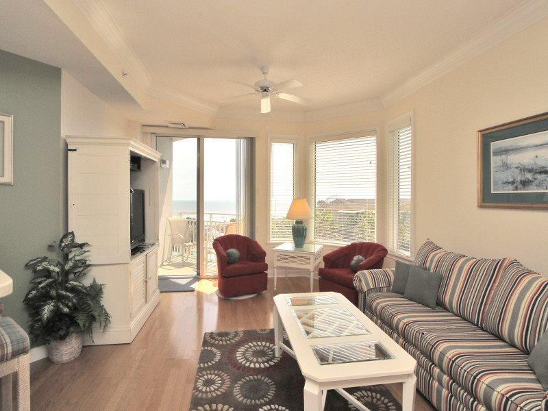 Living Room with Ocean Views at 2410 Sea Crest - 2410 Sea Crest - Hilton Head - rentals