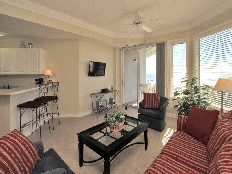 Living Room with Ocean Views at 2504 Sea Crest - 2504 Sea Crest - Hilton Head - rentals