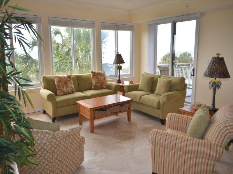 Living Room with Ocean Views at 3203 Sea Crest - 3203 Sea Crest - Hilton Head - rentals