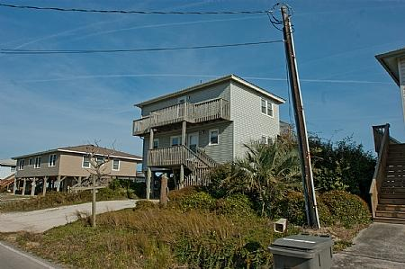 Street side view of Beach House - Beach House, 2712 S Shore Drive, SAVE UP TO $190!! - Surf City - rentals