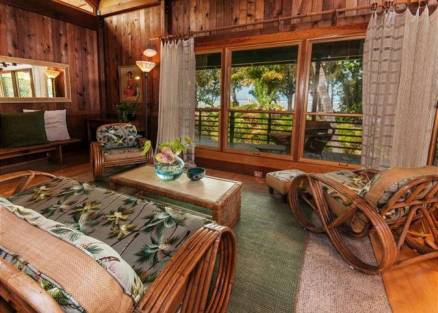 15% off June!! Anini Beachfront, Private Beachfront Cottage for Two - Image 1 - Kilauea - rentals