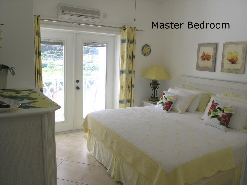 Master Bedroom - OLEANDER-Beautiful Beachfront Condo-1 or 2 bedroom - Frigate Bay - rentals