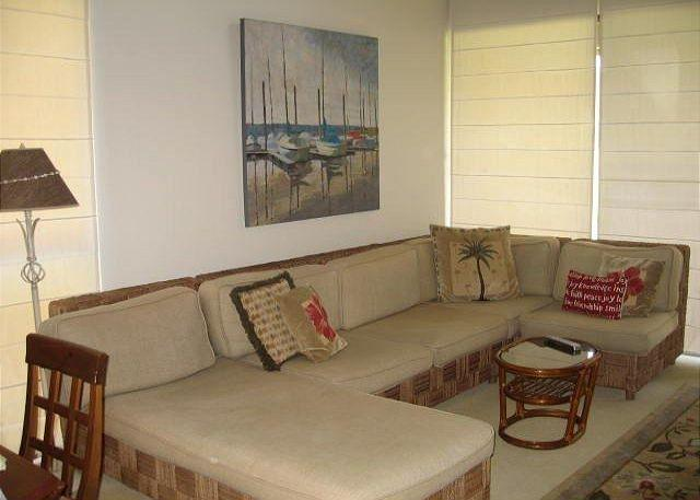 Living Room - Pikake ** Available for 30 night rentals. Please call - Kahuku - rentals