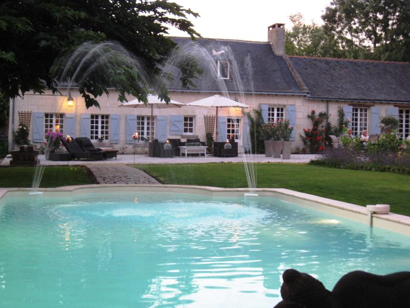 Swimmin pool and terrace - Chambre d'hôtes LE MOUTON - Blaison-Gohier - rentals