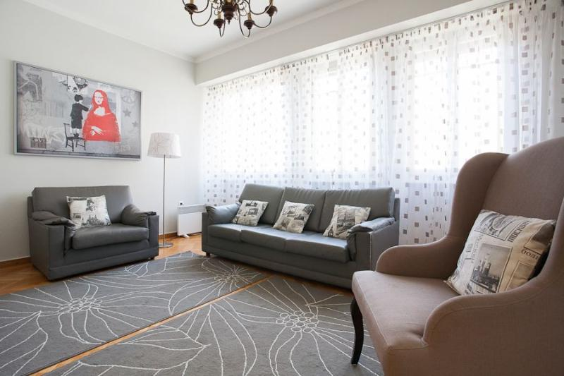 Living room - 3bdr spacious apt in the heart of Athens! - Athens - rentals