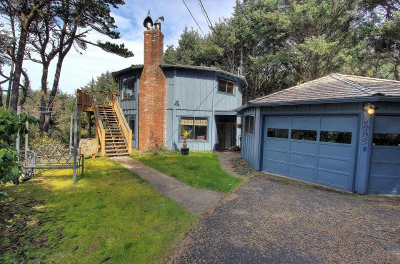 Unique 13-sided house, ocean views, fireplace! - Image 1 - South Beach - rentals