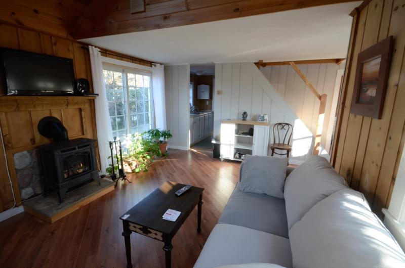 Living Room and Fire Place - Bayberry Bend Cottage - Provincetown - rentals