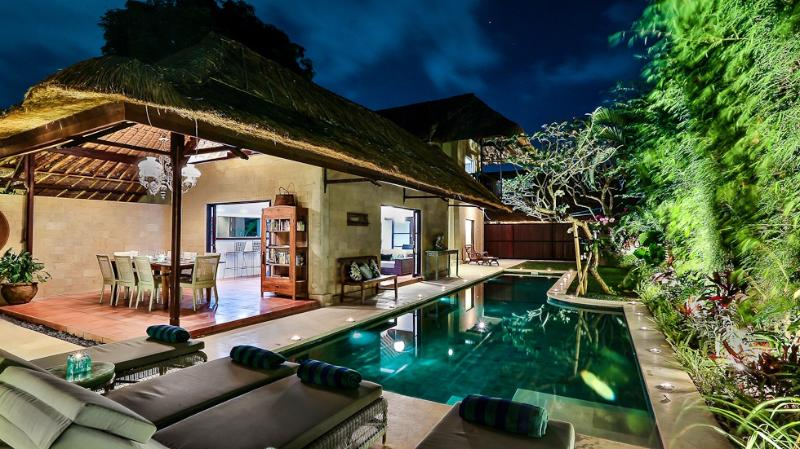 13m long lap pool with shallow area to the side and 1.9m at the deep end - VILLA ELLEO SEMINYAK 4 BEDROOM 4 BATH - SLEEPS 9 - Seminyak - rentals