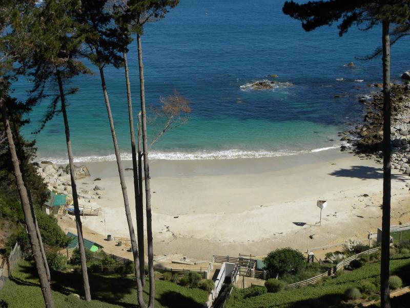View from Balcony to the beach - Algarrobo beach, Valparaiso- Vina del Mar region - Algarrobo - rentals