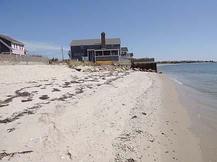 View of house from semi-private beach - South Chatham Cape Cod Waterfront Vacation Rental (1841) - Chatham - rentals