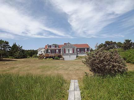 Back of House from Path to Beach - South Chatham Cape Cod Waterfront Vacation Rental (6369) - Chatham - rentals
