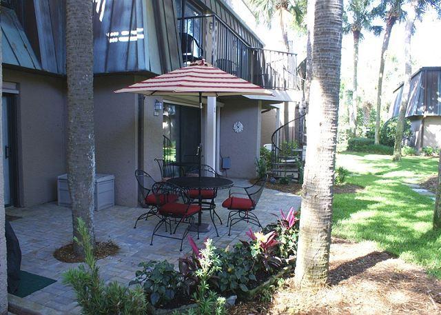 Patio - Ocean Club 17- Oceanside 1st Floor Flat - Hilton Head - rentals