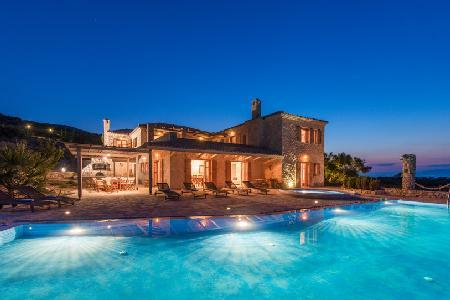 Experience Palace - Stunning Gated Villa with Panoramic Sea View & Private Pool - Image 1 - Agios Nikolaos - rentals