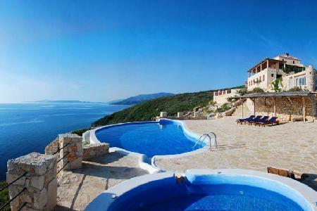 Superb sea view Deep Blue- stone house with sea access & hydro-massage pool - Image 1 - Agios Nikolaos - rentals