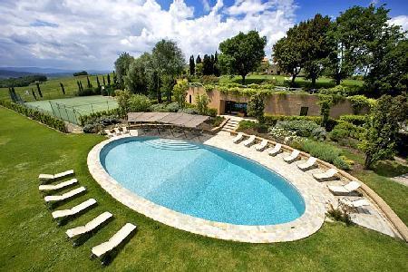 Hillside Country Villa with Pool & Tennis at Borgo Finocchieto - Image 1 - Montalcino - rentals