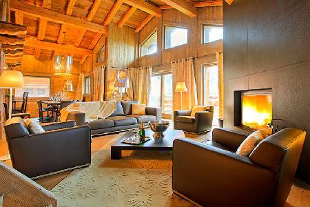 Chalet Tanniere with fireplace and heated plunge pool with Jetstream and jetted tub - Image 1 - Megève - rentals