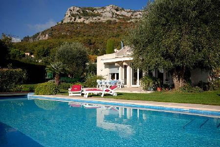 Luxurious Villa Mas 1 has impressive ocean views, infinity pool and fireplace - Image 1 - Vence - rentals