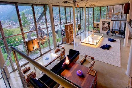 Huge Heinz Julen Loft in a Swiss Alp chalet with grand piano, private chef, hot tub & sauna - Image 1 - Zermatt - rentals