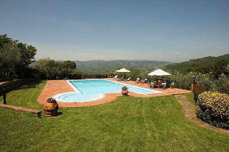 Restored 18th Century Villa dell'Angelo on 18 Acres with Saline Pool & Mountain Views - Image 1 - Montecatini Terme - rentals