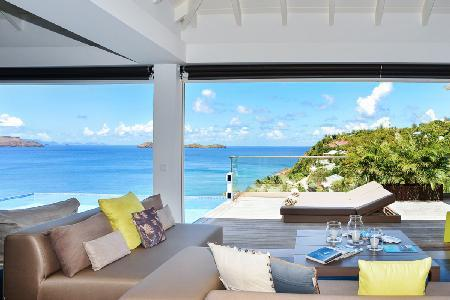 Brand new villa Upside opens onto deck, infinity pool & ocean with daily maid - Image 1 - Pointe Milou - rentals