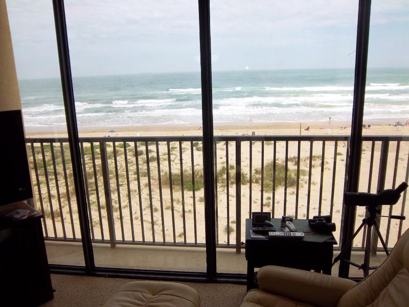 Beach/Ocean View from Living Room - Beachfront Upper Floor, Unbelievable Views!!! - South Padre Island - rentals