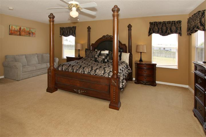 king master bedroom - 7BR-South Pool-Hot Tub-Wifi-Game Room-Near Disney - Davenport - rentals