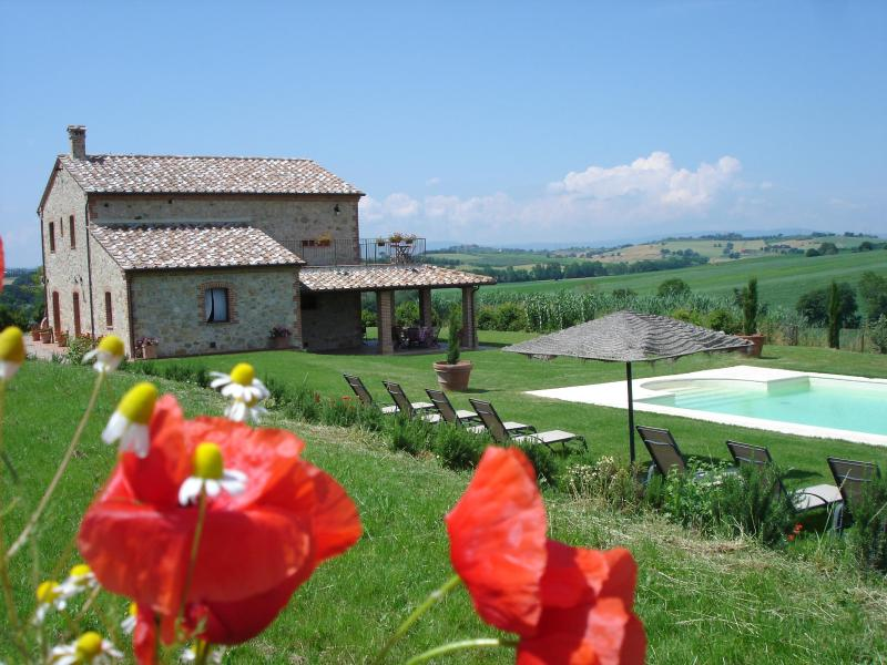 The gardens & Pool - FARMHOUSE WITH POOL +WIFI CLOSE TO CORTONA & LAKE - Castiglione Del Lago - rentals