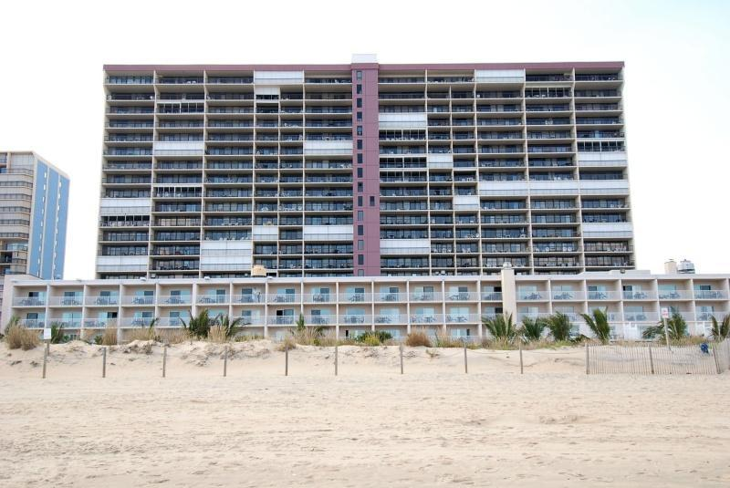 View of the resort from the beach. - Ocean City, Maryland- 2BR on the beach!(2009) - Ocean City - rentals