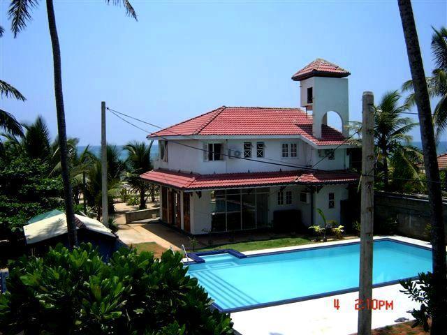 Front View - BEACH FRONT modern Villa Closer to Bentota - Sri Lanka - rentals