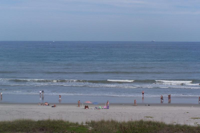 View from balcony and living room - Ocean front beach condo 6th floor facing the ocean - Cocoa Beach - rentals