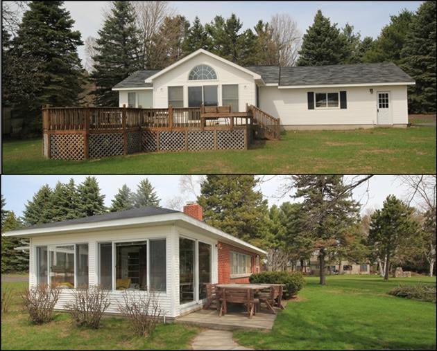 Main House and Guest House - Reduced Rates!  Private Lake Leelanau Waterfront!! - Lake Leelanau - rentals