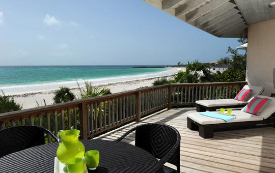 Provender's main sun deck - Historic 5-b.r. Villa Directly on Windermere Beach - Eleuthera - rentals