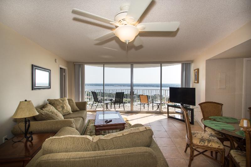 Living area with gorgeous SW view - May/June $pecials - Peck Plaza #23SW - Ocean View - Daytona Beach - rentals