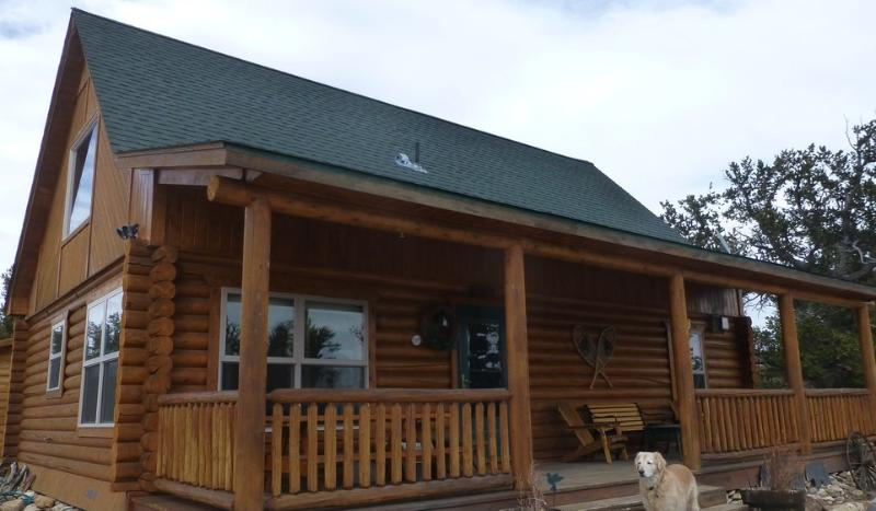 Front View of Cabin - Watts Log Home Cabin - Fairplay - rentals
