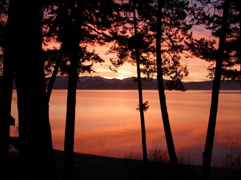 Sunrise over Flathead Lake from home - Juniper Bay Cottage on Flathead Lake, Montana - Somers - rentals