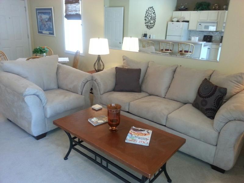 Living Room with Sleeper Sofa and Love Seat - Sea Trail Golf Villa with All Amenities - Sunset Beach - rentals