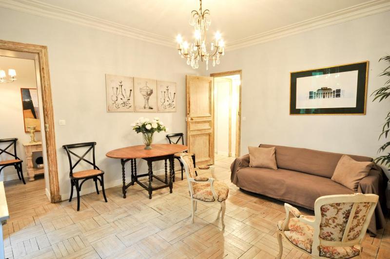 LIVING ROOM - Parisian Charm~Spectacular Marais~2 Bedroom Apt! - Paris - rentals