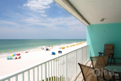 Stunning View from the Large Open Balcony - 202 - Arena De Madeira - Madeira Beach - rentals