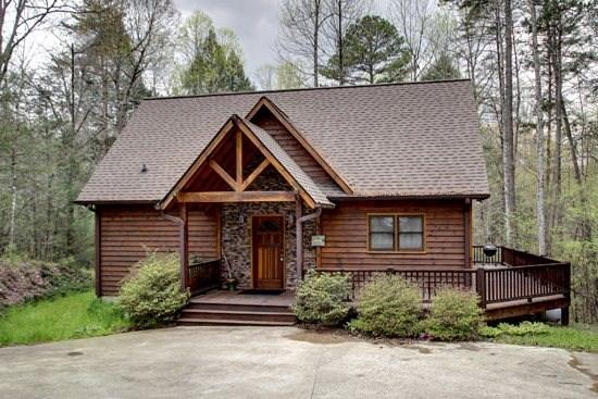 JEWEL OF THE CREEK- 2BR/2BA- PRIVATE DOCK ON FIGHTINGTOWN CREEK, CABIN SLEEPS 7, GAS LOG FIREPLACE, HOT TUB, FIRE PIT, WIFI, CHARCOAL GRILL, AND SMALL PETS WELCOME! $125/NIGHT! - Image 1 - Blue Ridge - rentals