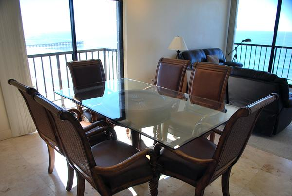 801 Dining view - Capri Oceanfront 2 bedroom, 2 bath Condos! - Pacific Beach - rentals
