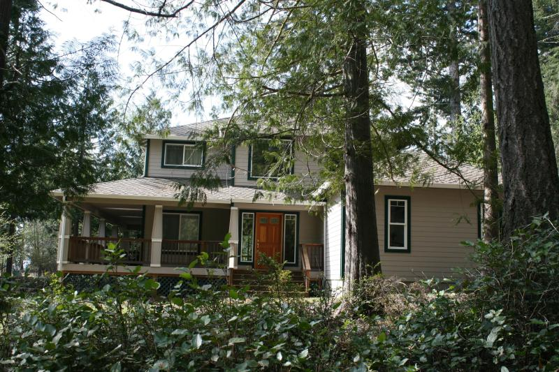 Front View from Road - Hartstene Pointe home with Puget Sound view - Shelton - rentals
