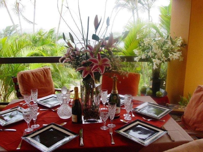 Breakfast terrace - La-Peng guest house - La Mercy - rentals