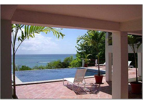 View of the Caribbean Sea from the Pool Deck - St. Lucia Villa, Oceanfront, Infinity Edge Pool, Exceptional View, Beach Access - Gros Islet - rentals