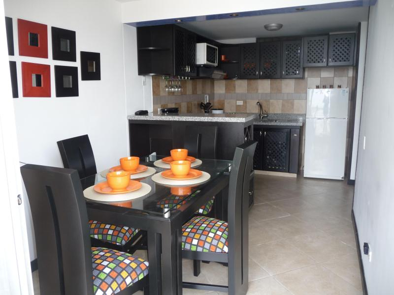 Dining and Kitchen View - BEAUTIFULL APT ON TOP OF THE WORLD - Medellin - rentals