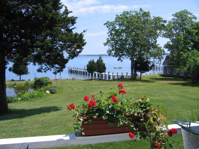View from patio - Hamptons Waterfront Summer Rental - Sag Harbor - rentals