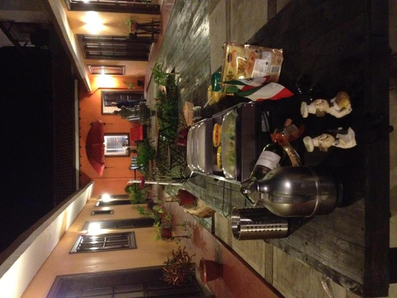 Patio Area, Italian night Buffet event - Bed & Breakfast - Mazatlan - rentals