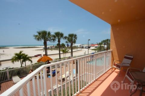 View of the beach look South towards annual events area - 201 - Surf Beach Resort - Treasure Island - rentals
